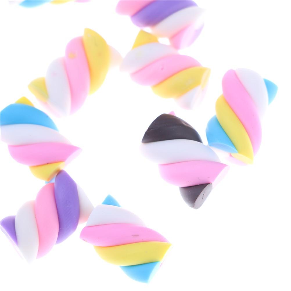 LOVEU* 10pcs/lot Resin Kawaii Resin Cake Resin Marshmallow DIY Resin Craft Decoration