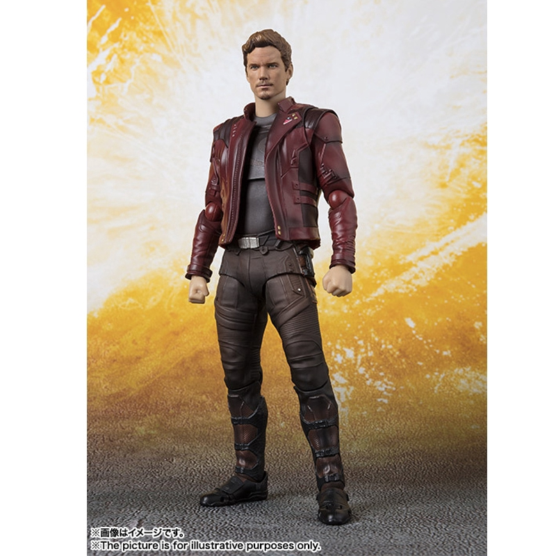 SHF AVENGERS INFINITY WAR  STAR-LORD ACTION FIGURES WITH BOX
