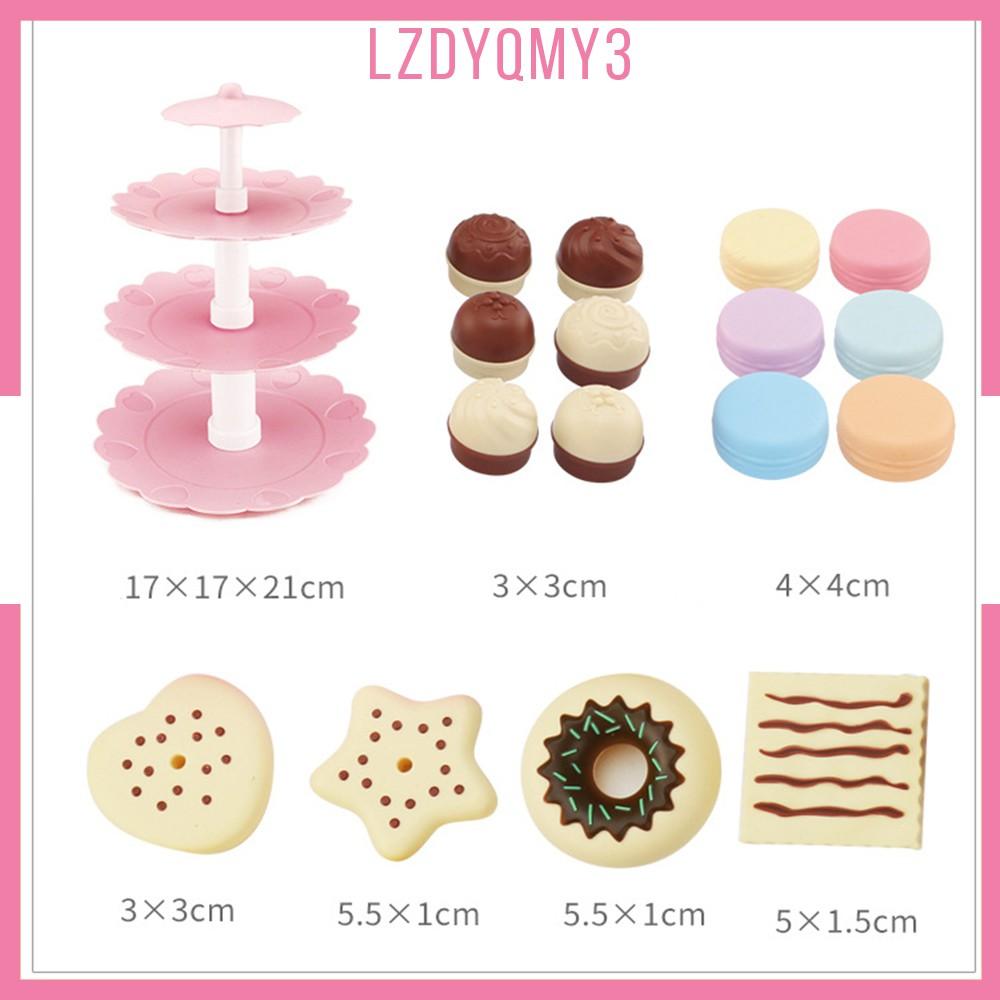 hausgarden Kids Food Pretend Play Toy Set - Sweet Treats 3-Tier Cookies Dessert Tower