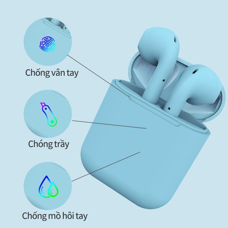 Tai Nghe Bluetooth. Tai Nghe Inpods i12 TWS 5.0 Không Dây Cảm Ứng Âm Thanh Cực Hay Dành Cho IOS Androi  màu Hàn Quốc