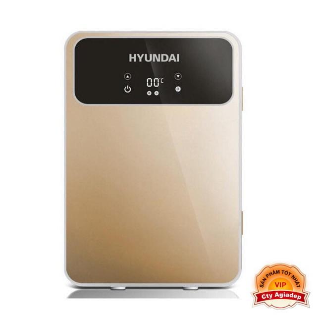 Tủ lạnh mini Hyundai mặt LED 2 chiều nóng lạnh (Dùng cả trên oto xe hơi và trong nhà) - Loại 20L