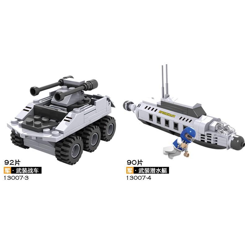 [LEGO] Bộ LEGO tàu chiến biến hình 8 trong 1