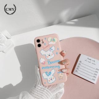 Ốp iphone  Ốp lưng Iphone 11 Ốp lưng iphone  Ốp lưng silicon Ốp iphone 12 pro max  Ốp iphone 12 mini Ốp điện thoại họa tiết cún cưng và trà sữa dễ thương dành cho for iPhone11/11Pro 11pro Max X XR XS XS MAX 7 8 plus SE 12 pro max 12 mini