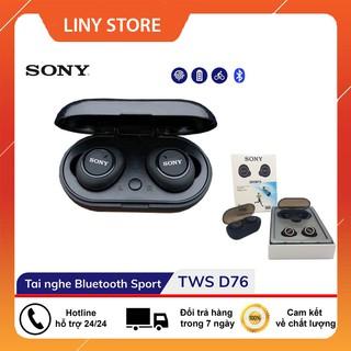 [Mã ELFLASH5 giảm 20K đơn 50K] Tai Nghe Bluetooth không dây Sport Sony TWS - D76 âm bass trầm, âm tress nghe rõ ràng