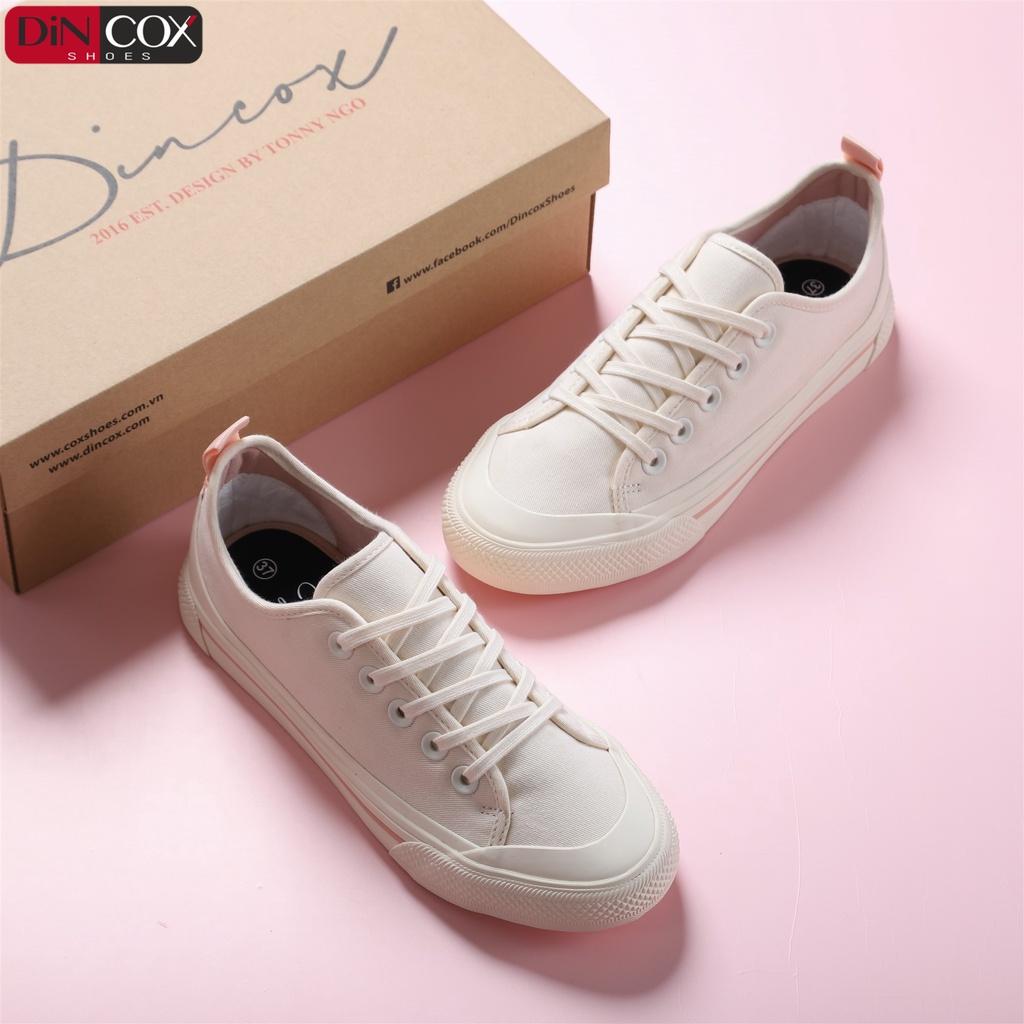 Giày Sneaker Vải Nữ DINCOX C20 Nữ Tính Sang Trọng Off/White