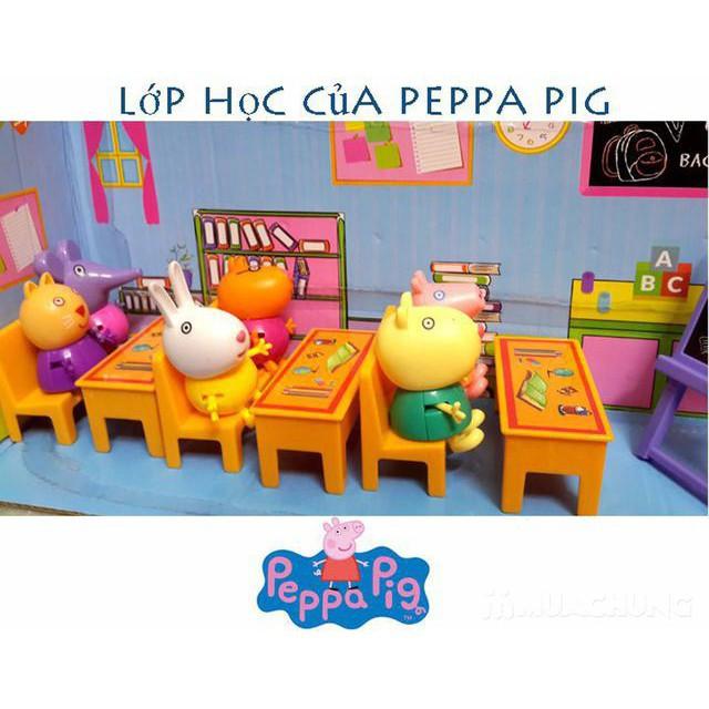 BỘ ĐỒ CHƠI LỚP HỌC PEPPA PIG