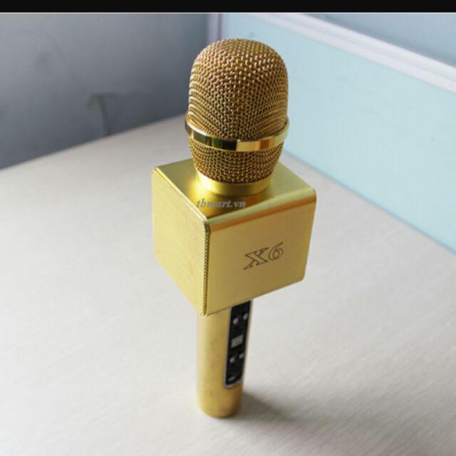 Mic kèm loa X6 Karaoke Bluetooth - 2406484 , 114117896 , 322_114117896 , 950000 , Mic-kem-loa-X6-Karaoke-Bluetooth-322_114117896 , shopee.vn , Mic kèm loa X6 Karaoke Bluetooth