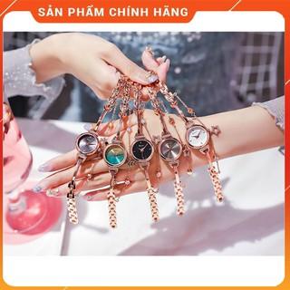 đồng hồ lắc tay nữ Kimio dây rút mặt tròn dây kim loại thumbnail