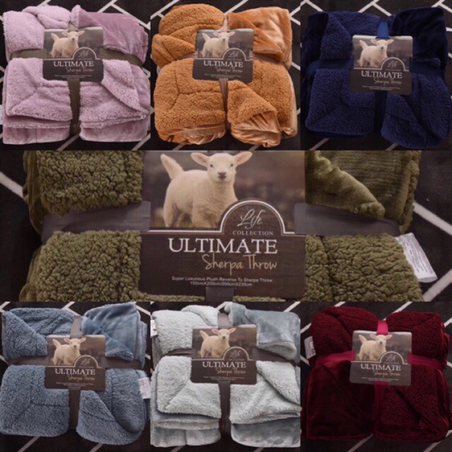 Chăn lông cừu Ultimate full mầu loại cao cấp - 3232662 , 1225684594 , 322_1225684594 , 430000 , Chan-long-cuu-Ultimate-full-mau-loai-cao-cap-322_1225684594 , shopee.vn , Chăn lông cừu Ultimate full mầu loại cao cấp