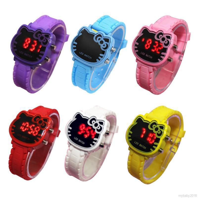 💕 My Baby 💕 Đồng hồ đèn LED Hello Kitty chống nước