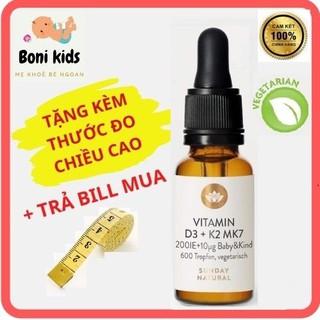 Vitamin D3 K2 MK7 Sunday Natural Đức 20ml Bổ Sung Cho Trẻ Từ Sơ Sinh Đến 4 Tuổi, D3K2 Tăng Hấp Thụ Canxi tăng Chiều Cao thumbnail
