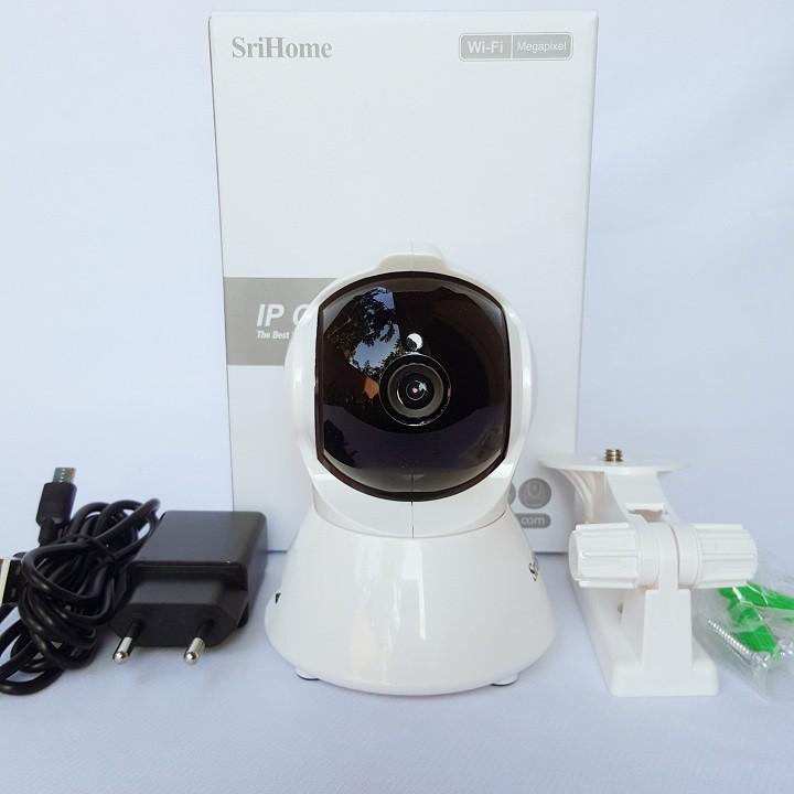 Camera Srihome SH025 - 2MP FHD - Kết nối wifi - Đàm thoại hai chiều - Xem 4 Camera Trên 1 Màn Hình