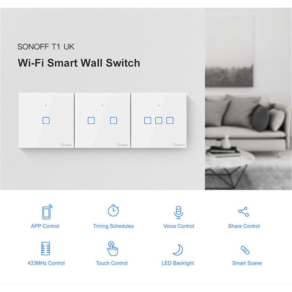 Công tắc cảm ứng thông minh Sonoff TX điều khiển từ xa kết nối WiFi