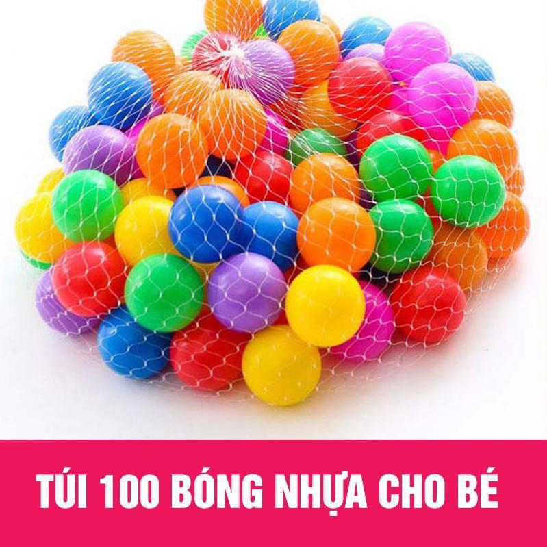 SZ- Túi 100 Quả Bóng Nhựa Cho Bé Vui Chơi