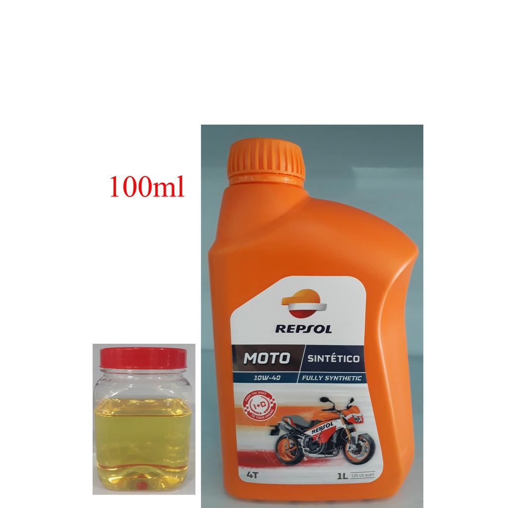 Dầu nhớt tổng hợp cao cấp xe số và xe tay côn Repsol Moto Sintetico 10W-40 100ml - 3192108 , 535676088 , 322_535676088 , 20000 , Dau-nhot-tong-hop-cao-cap-xe-so-va-xe-tay-con-Repsol-Moto-Sintetico-10W-40-100ml-322_535676088 , shopee.vn , Dầu nhớt tổng hợp cao cấp xe số và xe tay côn Repsol Moto Sintetico 10W-40 100ml