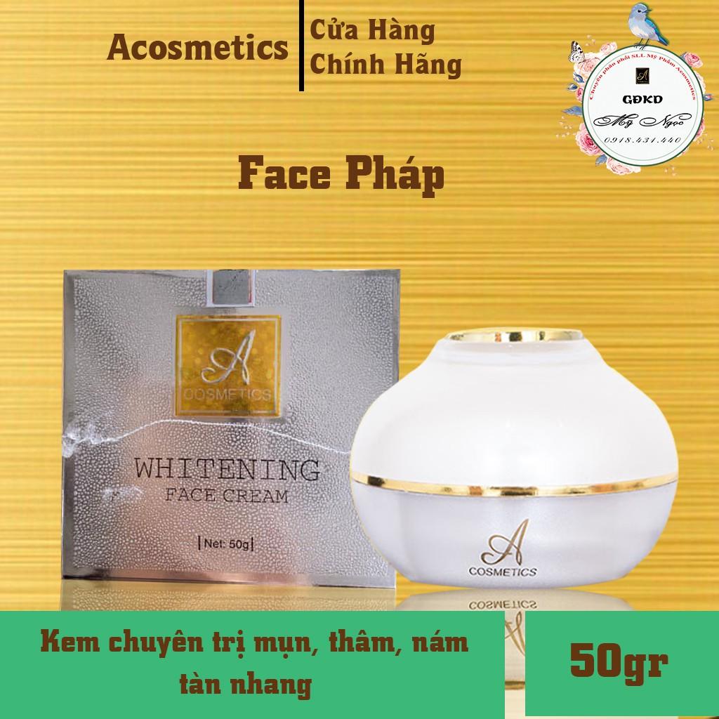 Kem Face Pháp Acosmetics, chuyên trị mụn, thâm, nám, tàn nhang, cung cấp collagen giúp da trắng sáng, căn bóng