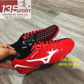 SẴN [HÀNG MỚI VỀ] [FREESHIP 99K]Giày đá bóng Mizuno Ignitus TF đỏ đen (Combo Giày + Túi rút) bán chạy HOT :))