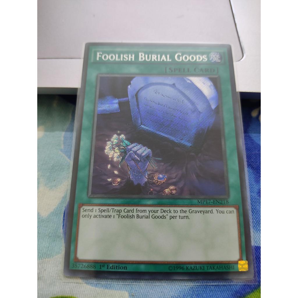 [Yugioh Funny Shop] Foolish Burial Goods – MP17-EN218 – Secret Rare 1st Edition