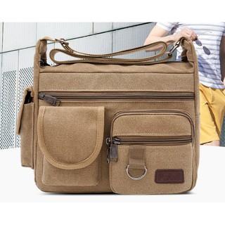 Túi đeo chéo vải bố thời trang phong cách Hàn Quốc , túi vải bố vải bền chắc đẹp chứa sách ipad ô dùng đi làm