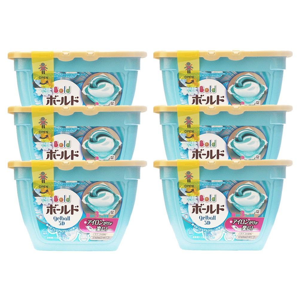 COMBO: 6 hộp viên giặt Gell Ball 3D 18 viên màu xanh
