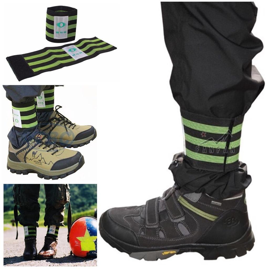 Bán sỉ- bó ống quần phản quang xà cạp băng thun chun ống chân thi công thể thao phượt dã ngoại leo núi rừng trời mưa