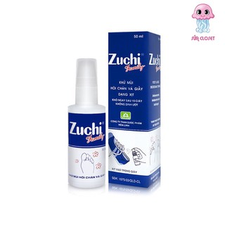 Xịt Khử Mùi Hôi Chân Và Giày Zuchi Family chai 50ml, Khô ngay trong vòng 10s không dính ướt thumbnail