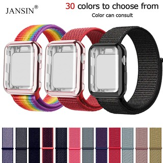 All-inclusive case + nylon strap Apple Watch iwatch strap 38mm /40mm 40mm/44mm series 6/SE/5/4/3/2/1