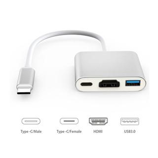 [Mã ELFLASH5 giảm 20K đơn 50K] Cáp chuyển USB type C to HDMI 4K + USB 3.0 + USB C