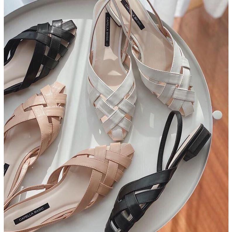 Giày Sục Sandal 2p Quai Hậu + sẵn hàng