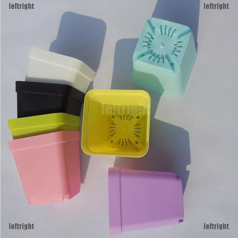 Set 10 chậu khay nhựa nhiều màu sắc mini dễ thương dùng để trang trí sân vườn độc đáo tiện dụng