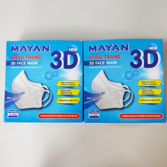 Khẩu trang 3D Mayan cho người lớn hộp 10 chiếc