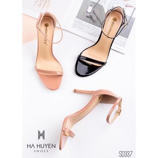 Sandal nữ HHS bóng quai siêu mảnh gót nhọn 7 phân Hà Huyền Shoes - SD337