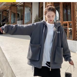 Áo khoác hoodie túi hộp freesize from rộng có mũ thêu chữ Ridage 3 màu siêu xinh,ShopOnet-AKTH