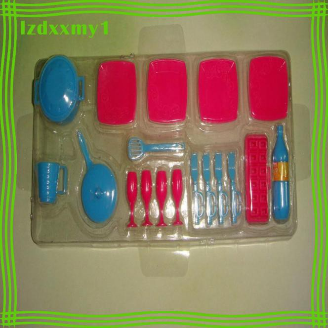 Kiddy Dolls Tableware Set Mini Pot Pan Dishes Party Accessories for Dolls