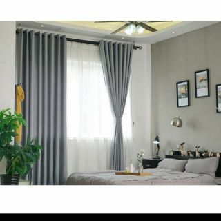Rèm cửa sổ màu xám