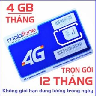 [Miễn phí 12 tháng] – Sim 4G Mobifone gói 4GB/tháng