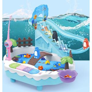 Bộ đồ chơi 2 trong 1 Chin cánh cụt leo cầu thang và câu cá