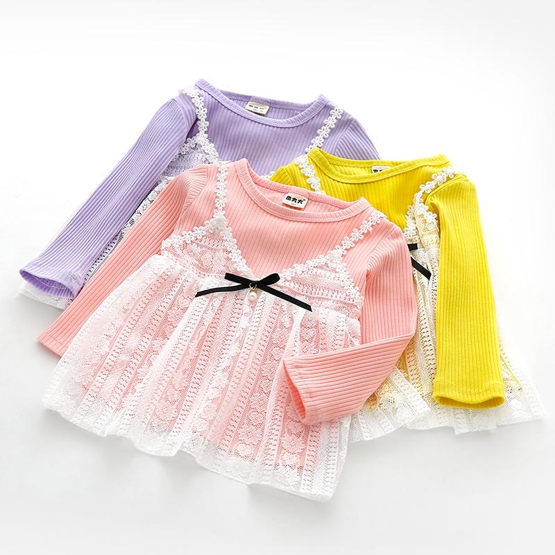 áo thun tay dài in chữ xinh xắn cho bé gái