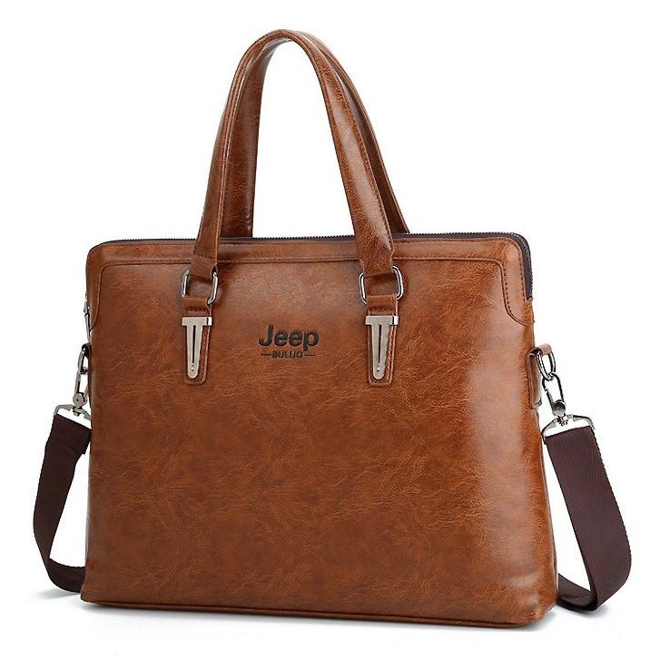Túi xách cặp da đựng laptop JEEP BULUO T04 42x32x7cm vừa laptop 15.6inch