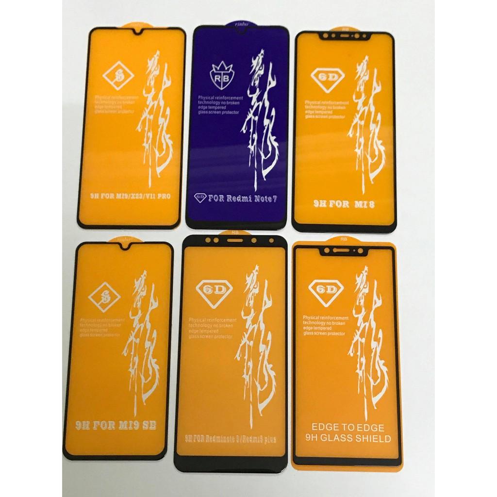 Cường Lực 6D Full Màn Đủ Mã Xiaomi
