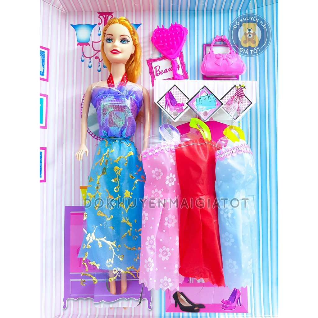Đồ chơi trang điểm nhiều chi tiết tặng kèm 1 búp bê cho bé gái - Đồ khuyến  mãi giá tốt giá cạnh tranh