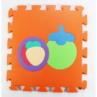 Bộ 10 tấm Thảm xốp lót sàn cho bé hình trái cây (30x30cm)