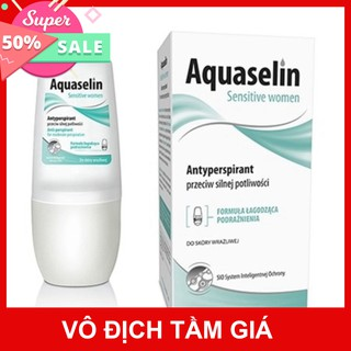 Lăn khử mùi Aquaselin Sensitive Women không mùi dành cho nữ mùi hôi nhẹ (lọ 50ml)