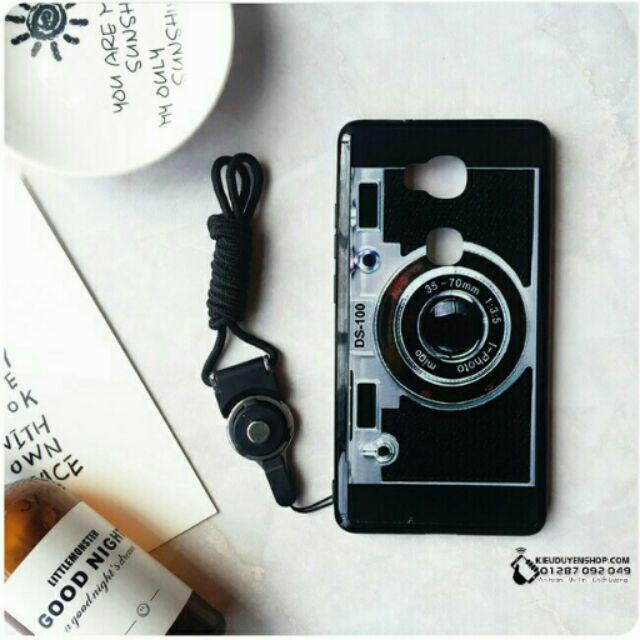 Huawei Gr5 ốp in hình máy ảnh có dây đeo