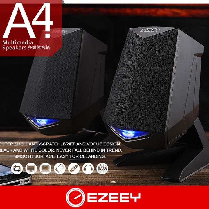 Loa vi tính 2.0 Ezeey A4 Âm thanh hay sử dụng cổng USB nguồn 5V - VL