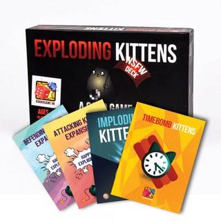[ẢNH THẬT RẺ VÔ ĐỊCH] COMBO Mèo nổ 18+ + 4 Bản mở rộng Cao Cấp – Bài Mèo Nổ Exploding Kittens – EtoysVN