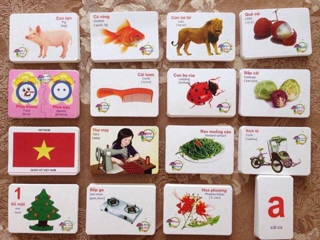 Bộ Thẻ Học Thông Minh 16 Chủ Đề Gồm 416 Thẻ Dành Cho Bé Yêu