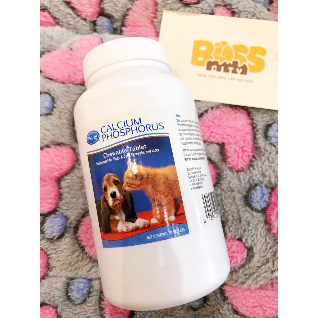 Canxi cho chó mèo Calcium phosphorus Petag 5 viên chia