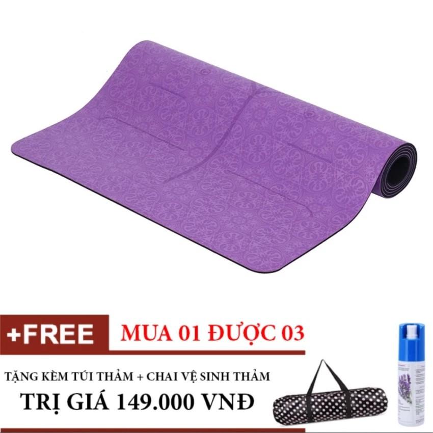 Combo Thảm Tập Yoga Định Tuyến PU cao cấp (Tím) Tặng túi và Chai xịt thảm - 3343711 , 574621507 , 322_574621507 , 2220000 , Combo-Tham-Tap-Yoga-Dinh-Tuyen-PU-cao-cap-Tim-Tang-tui-va-Chai-xit-tham-322_574621507 , shopee.vn , Combo Thảm Tập Yoga Định Tuyến PU cao cấp (Tím) Tặng túi và Chai xịt thảm