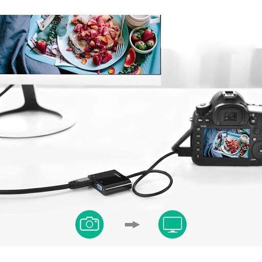 [Mã 267ELSALE hoàn 7% đơn 300K] Cáp Micro HDMI to VGA, HDMI Ugreen 30355
